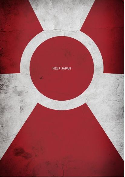 japan flag 2011. a Japanese flag with a